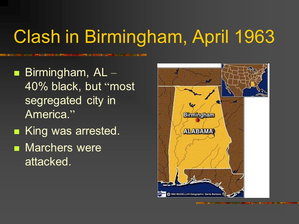 Clash in Birmingham, April 1963
