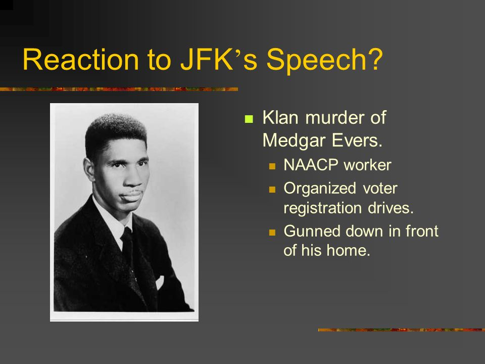 Reaction to JFK's Speech