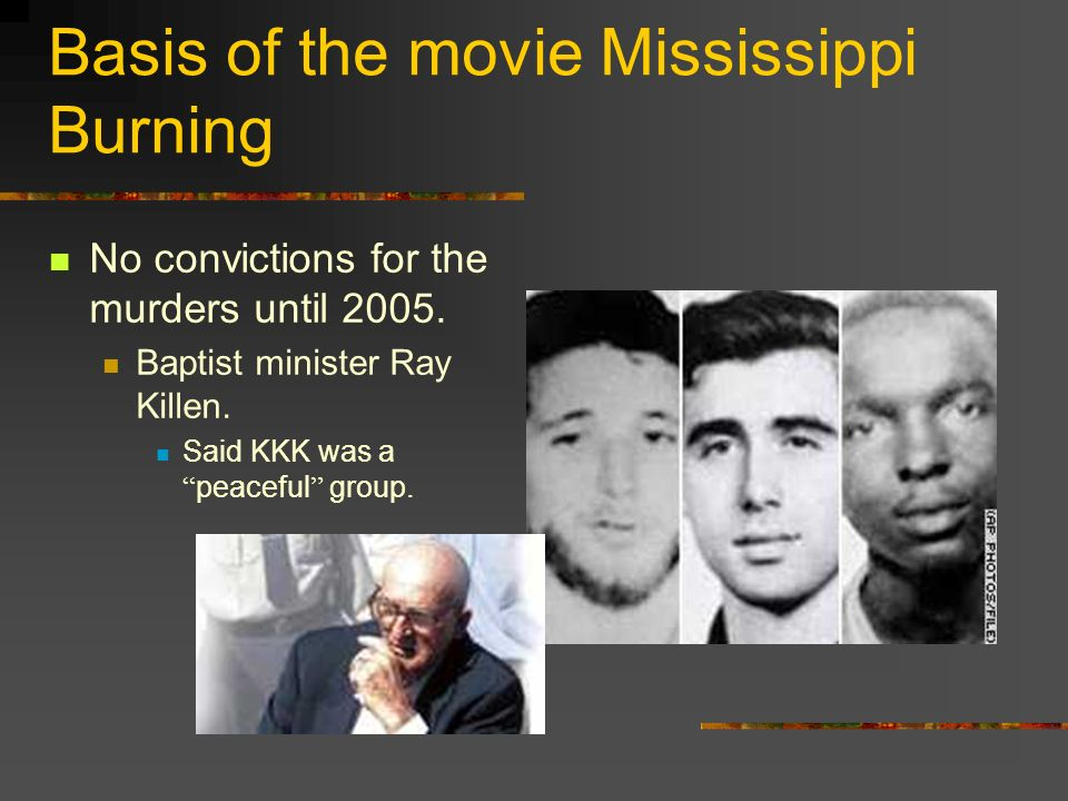 Basis of the movie Mississippi Burning