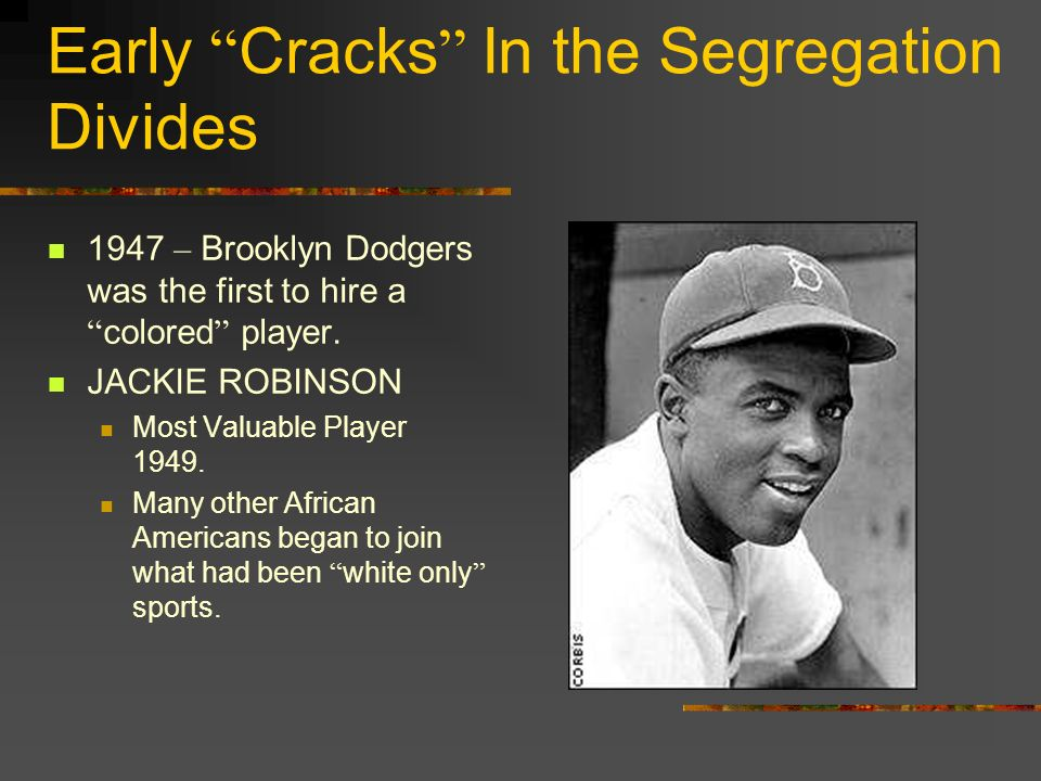 Early Cracks In the Segregation Divides