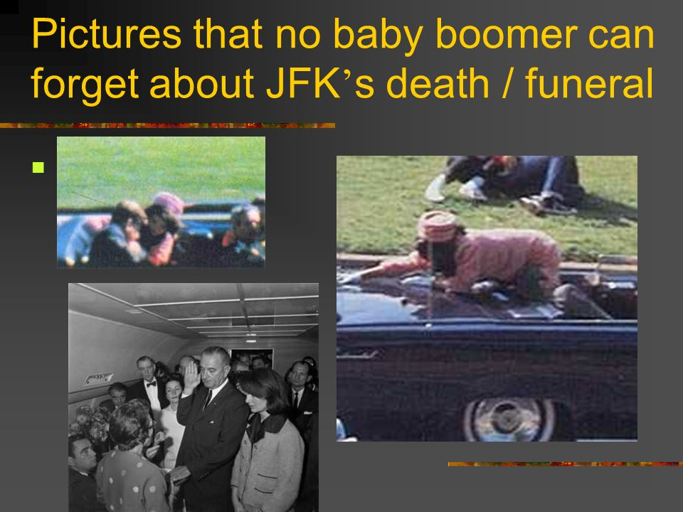 Pictures that no baby boomer can forget about JFK's death / funeral
