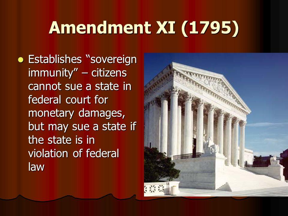 Amendment XI (1795)