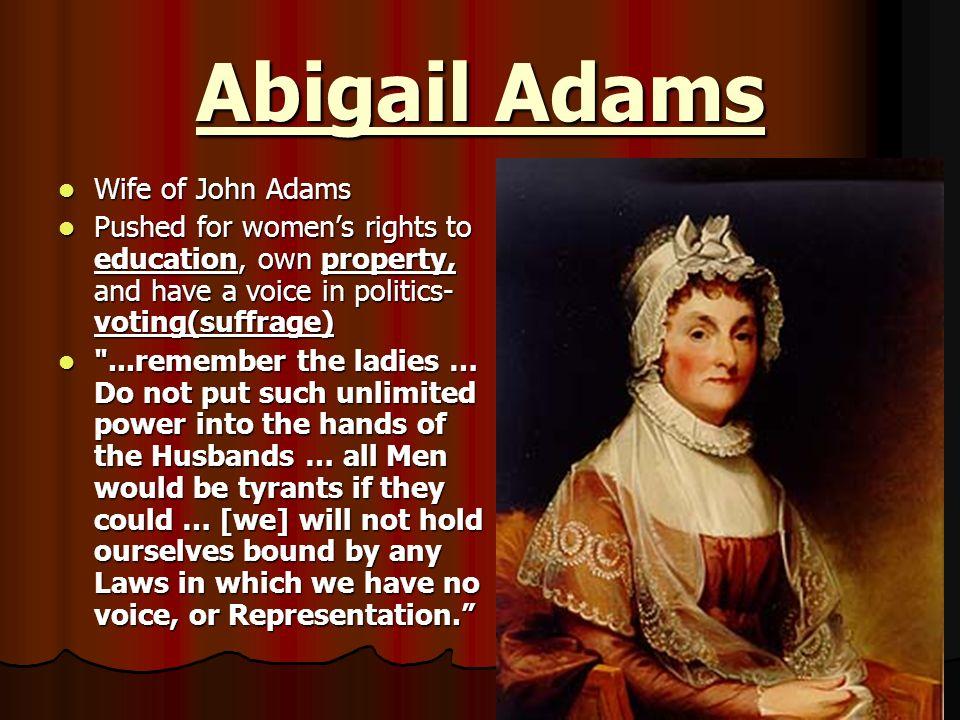 Abigail Adams Wife of John Adams