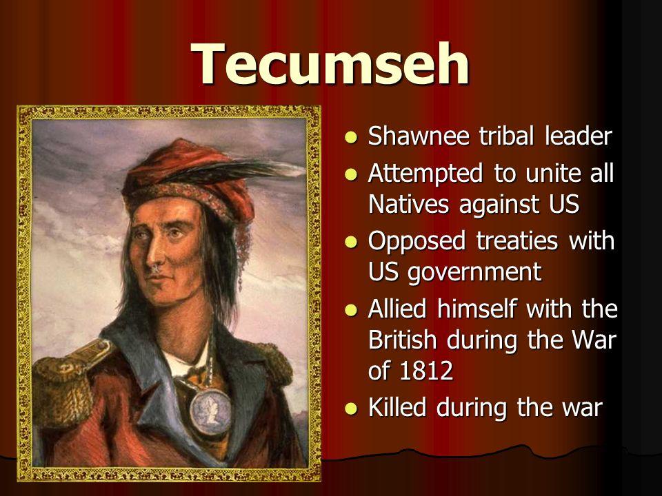 Tecumseh Shawnee tribal leader
