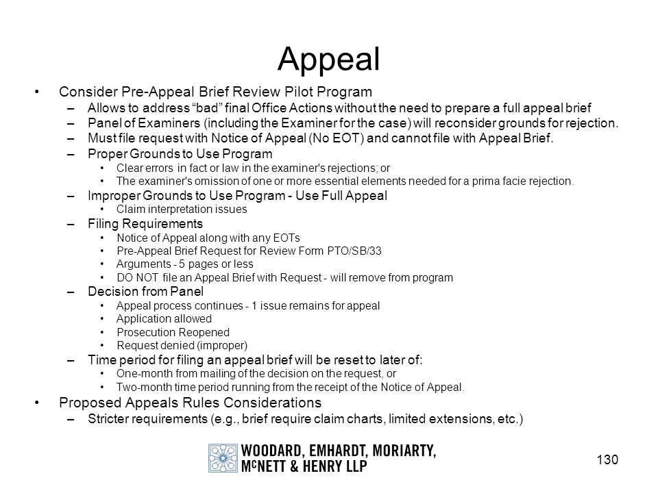 Appeal Consider Pre-Appeal Brief Review Pilot Program