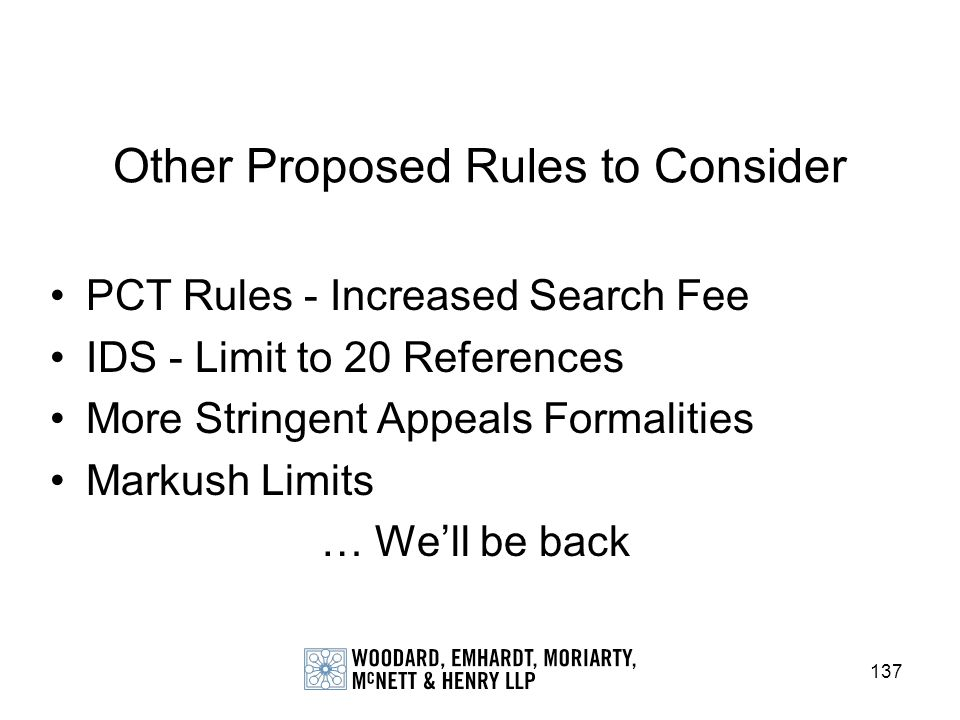 Other Proposed Rules to Consider