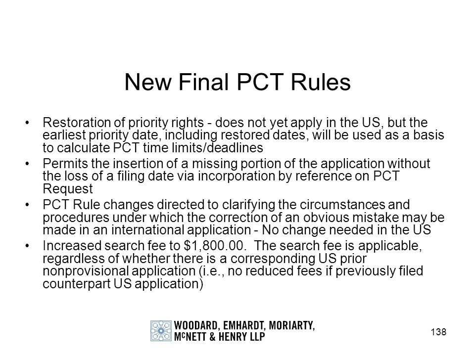 New Final PCT Rules