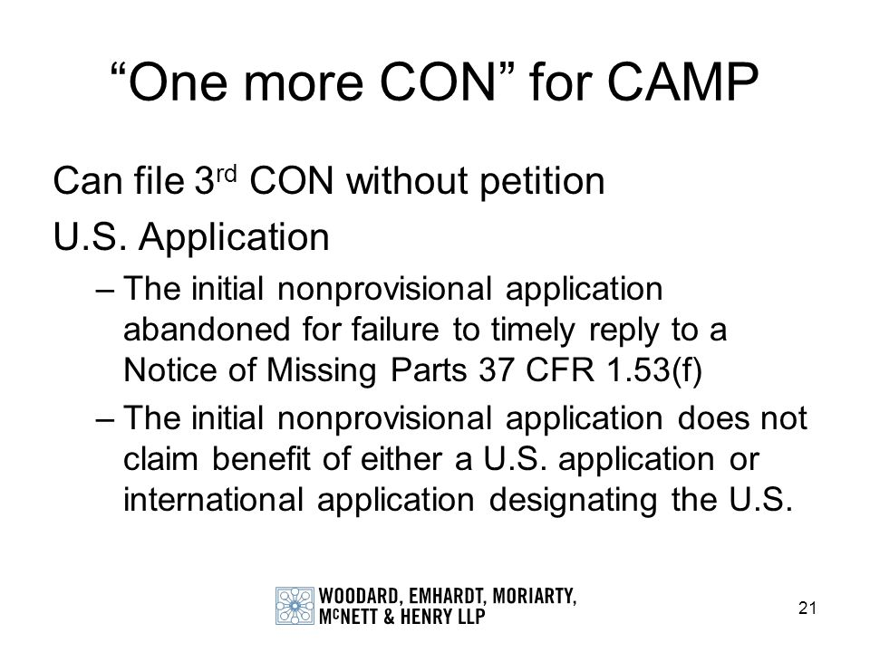 One more CON for CAMP Can file 3rd CON without petition