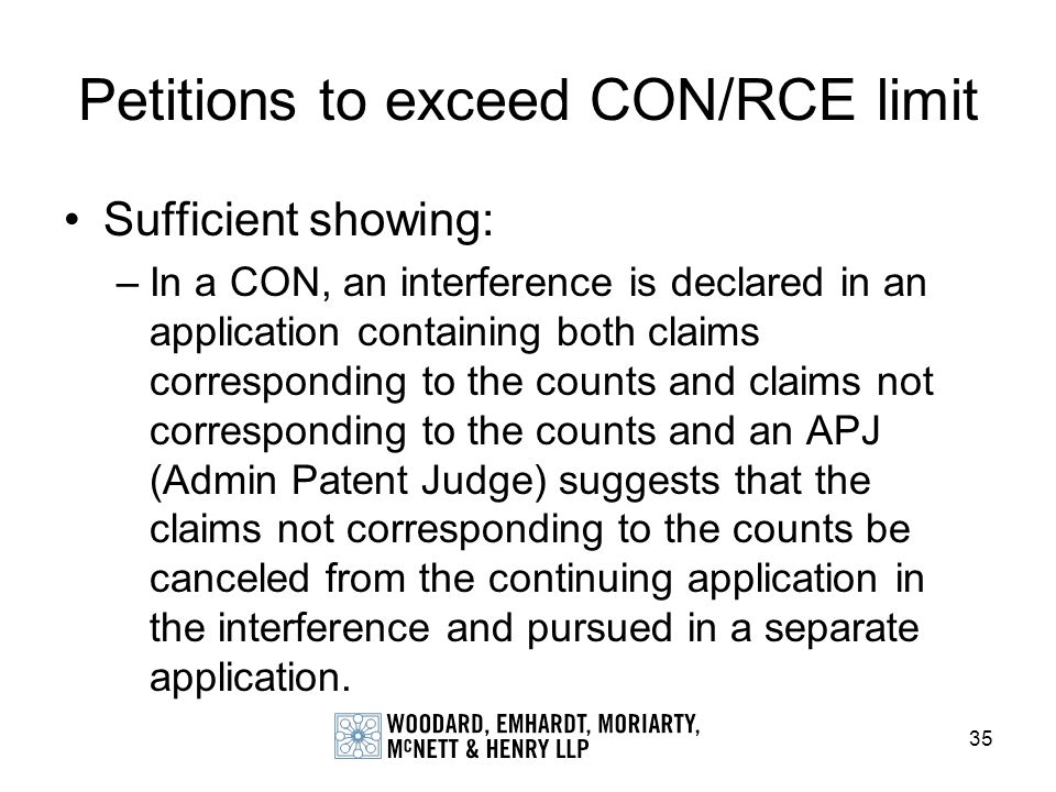Petitions to exceed CON/RCE limit