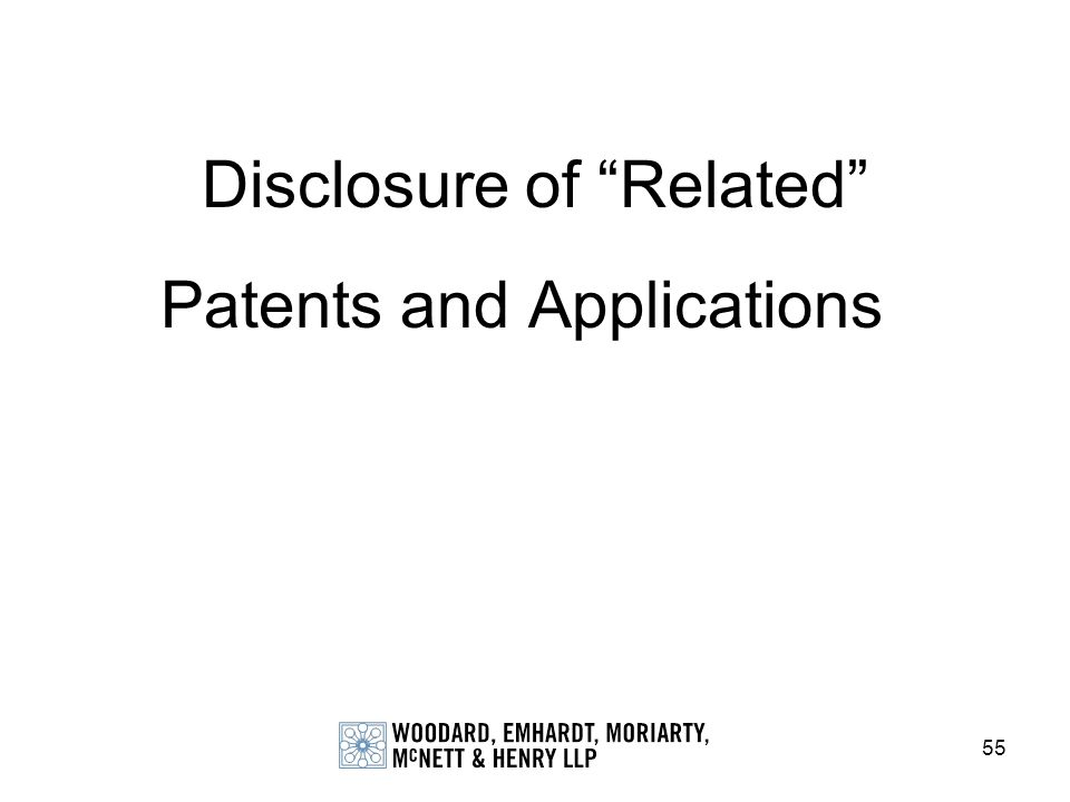 Disclosure of Related