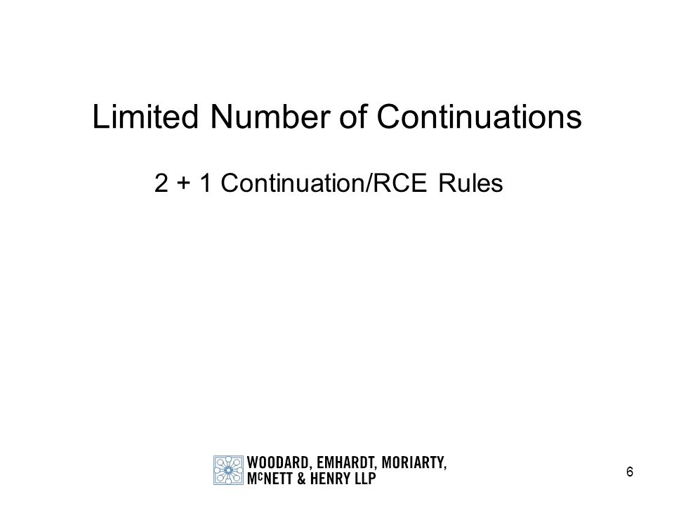 Limited Number of Continuations