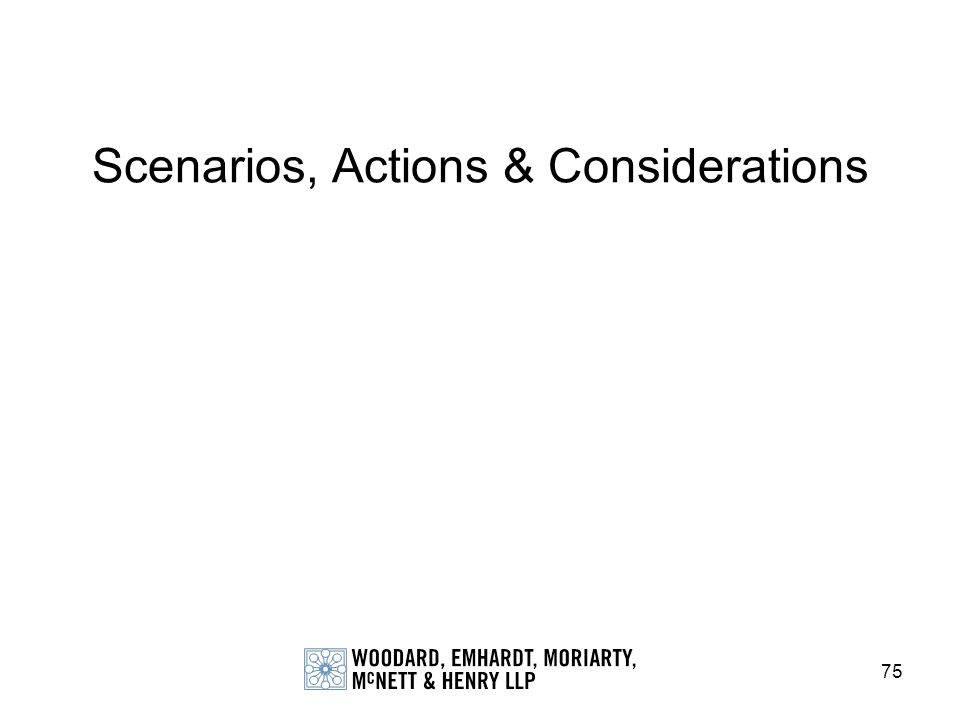 Scenarios, Actions & Considerations