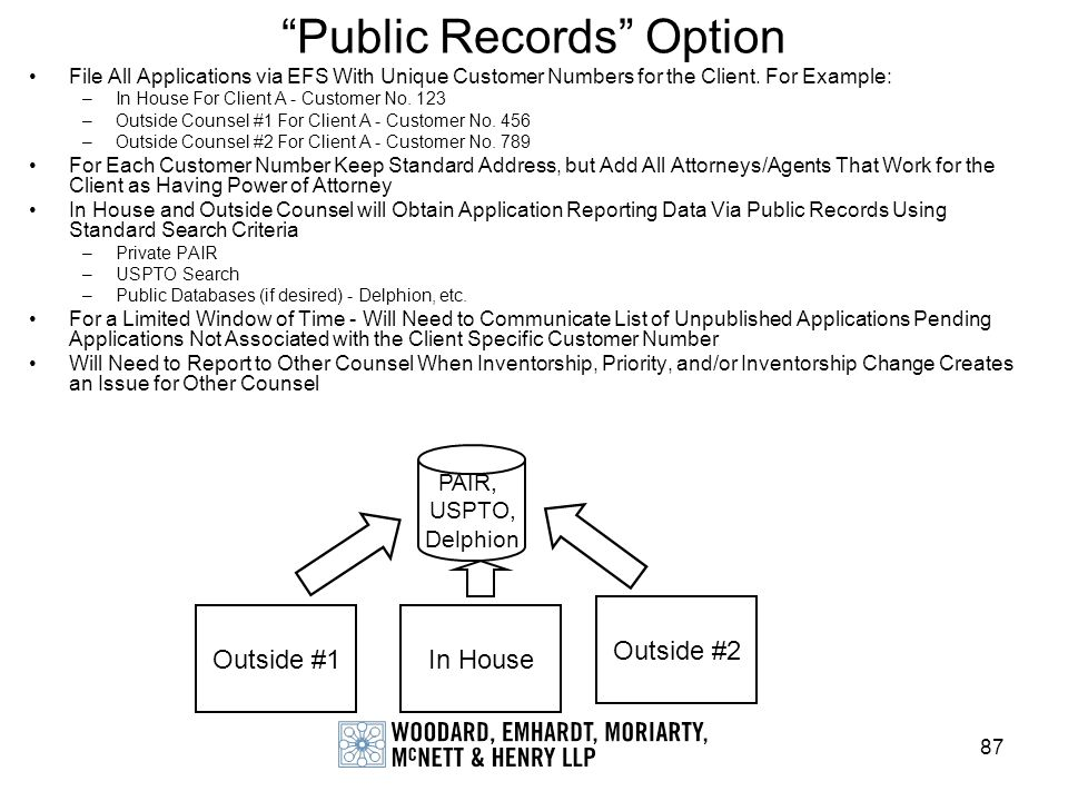 Public Records Option