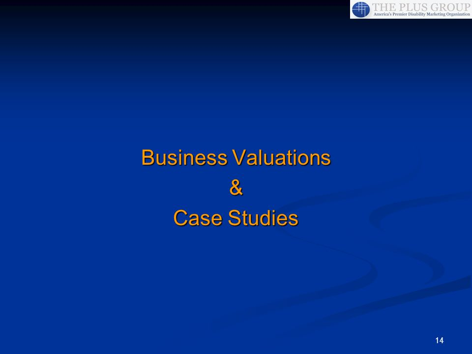 Business Valuations & Case Studies