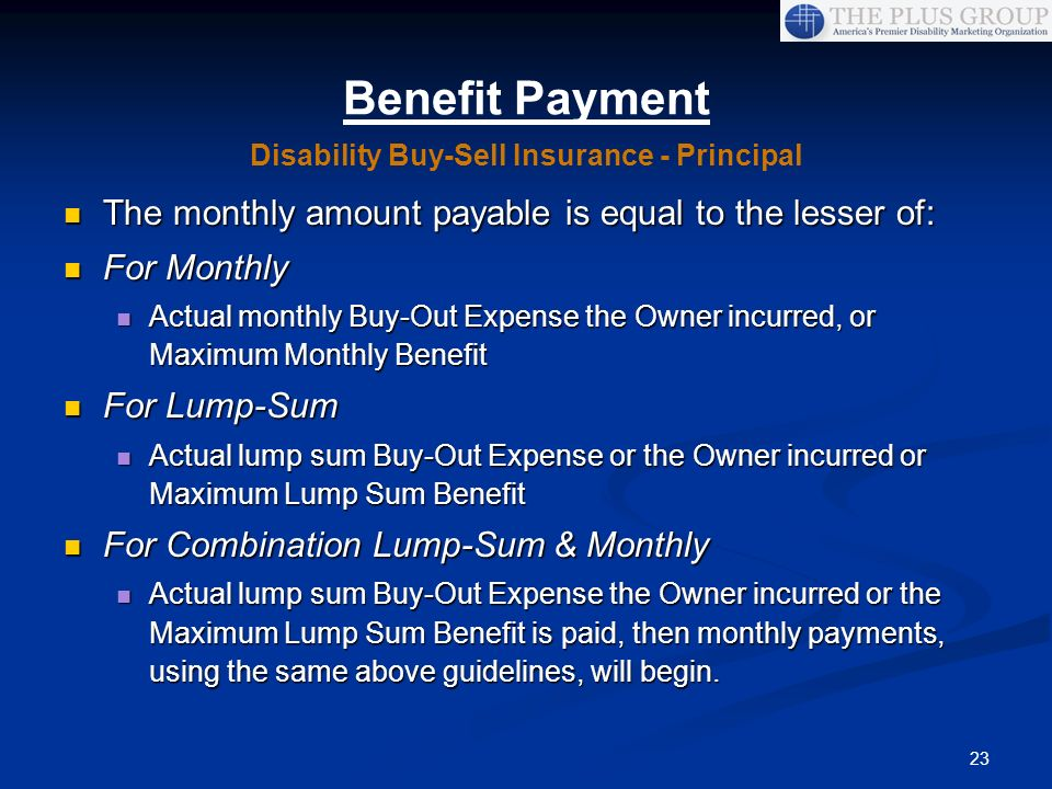 Disability Buy-Sell Insurance - Principal