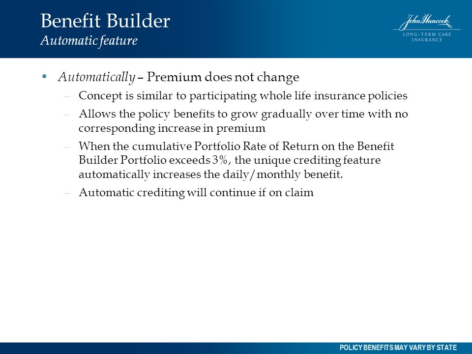 Benefit Builder Automatic feature