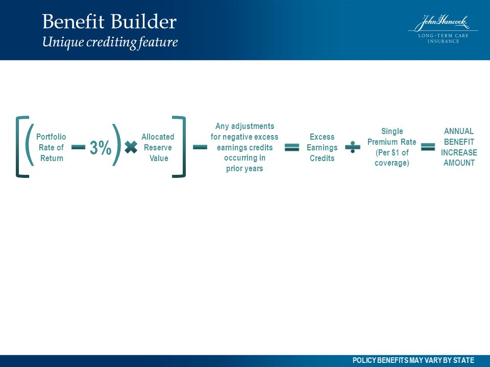 Benefit Builder Unique crediting feature