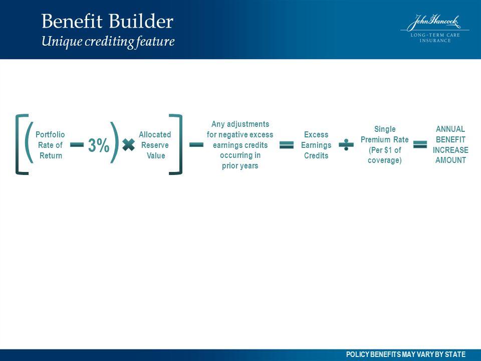 Benefit Builder Unique crediting feature