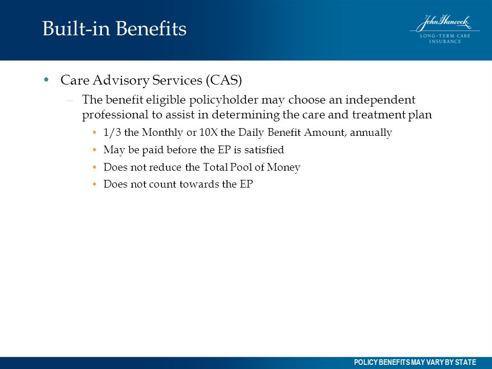 Built-in Benefits Care Advisory Services (CAS)
