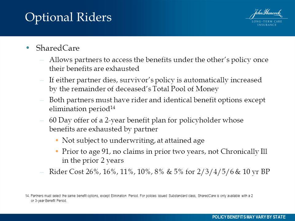 Optional Riders SharedCare