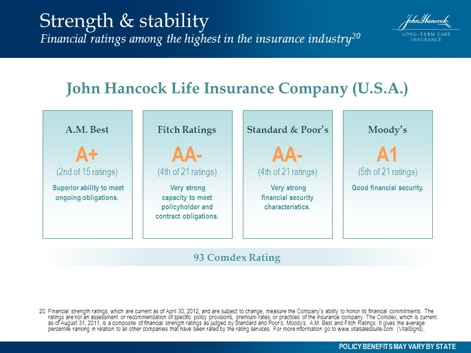 John Hancock Life Insurance Ratings  : Policy Benefits and Features Custom Care III featuring Benefit ...