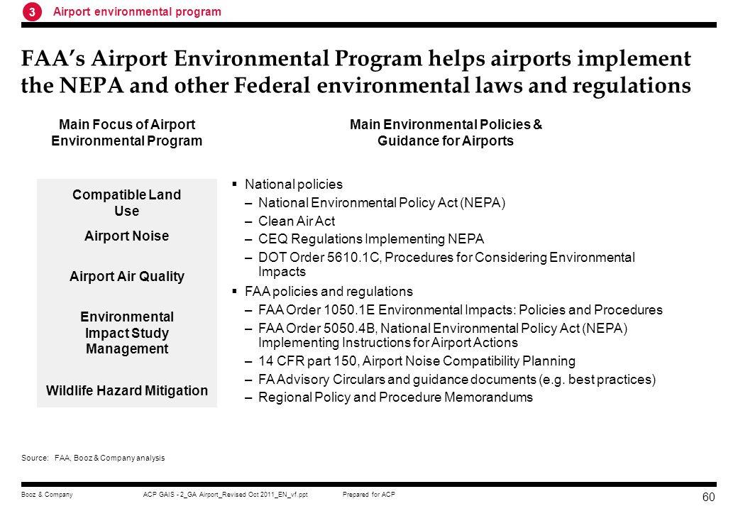 Main Focus of Airport Environmental Program