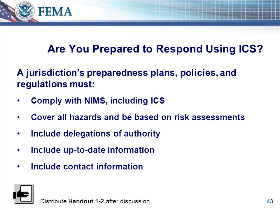 Emergency Operations Center Objectives