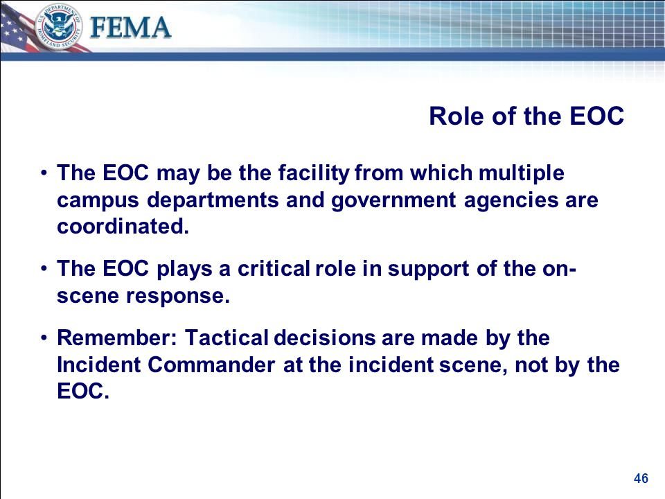 Criteria for an Effective EOC