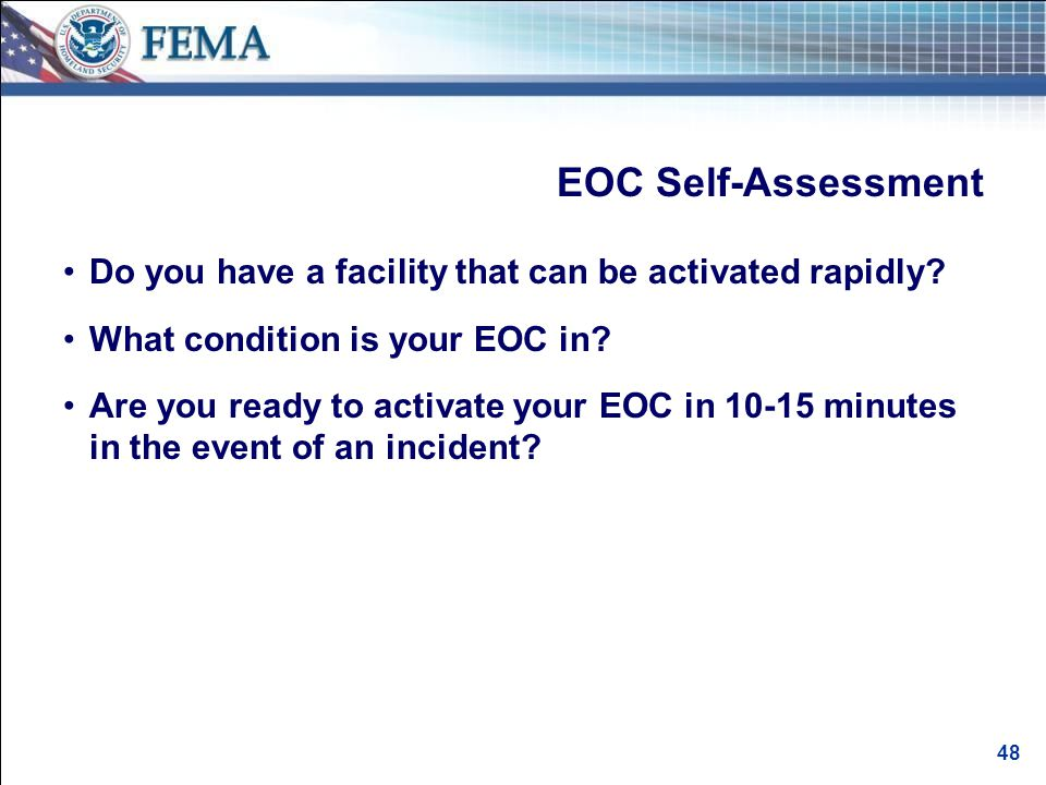 EOC Benefits An effective EOC: