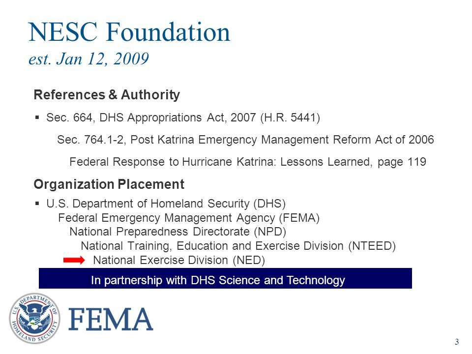 NESC Foundation est. Jan 12, 2009