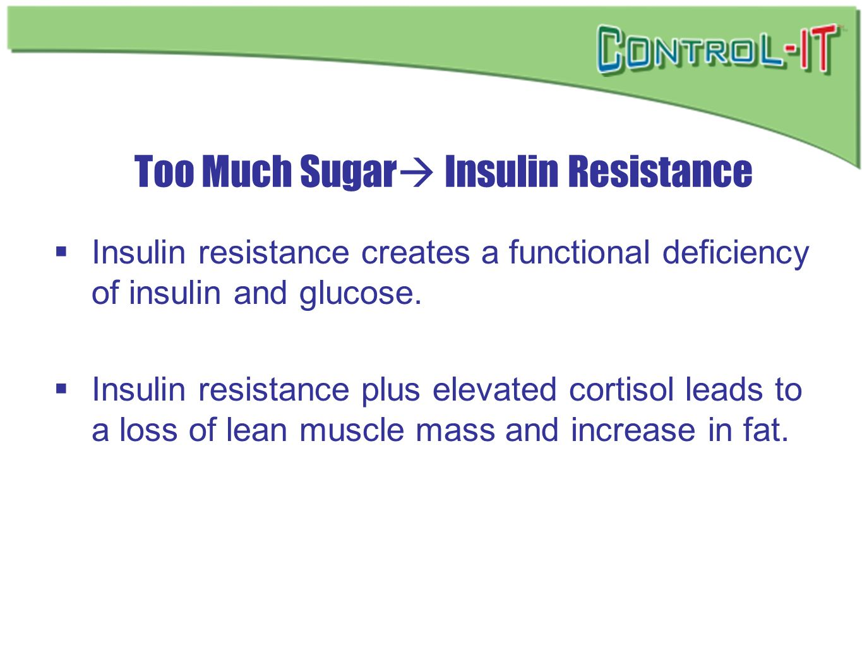 Too Much Sugar Insulin Resistance