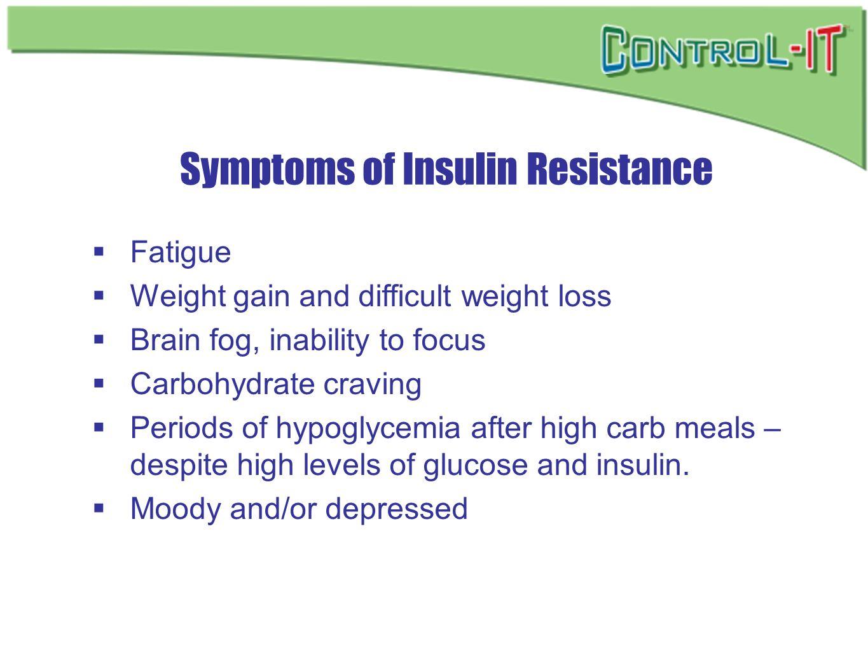 Symptoms of Insulin Resistance