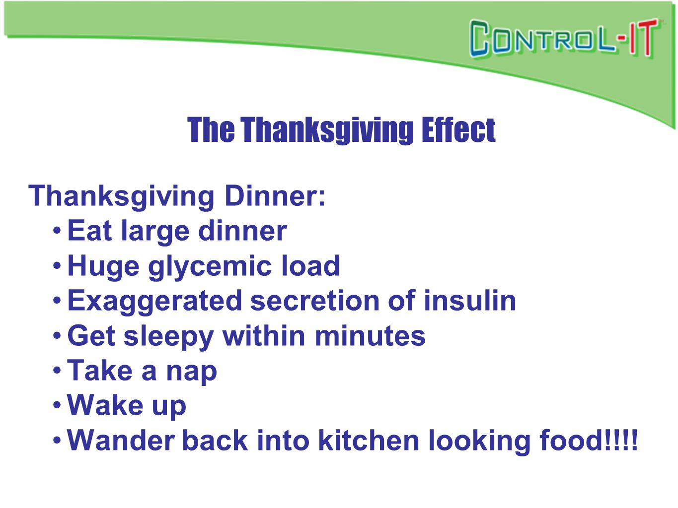The Thanksgiving Effect