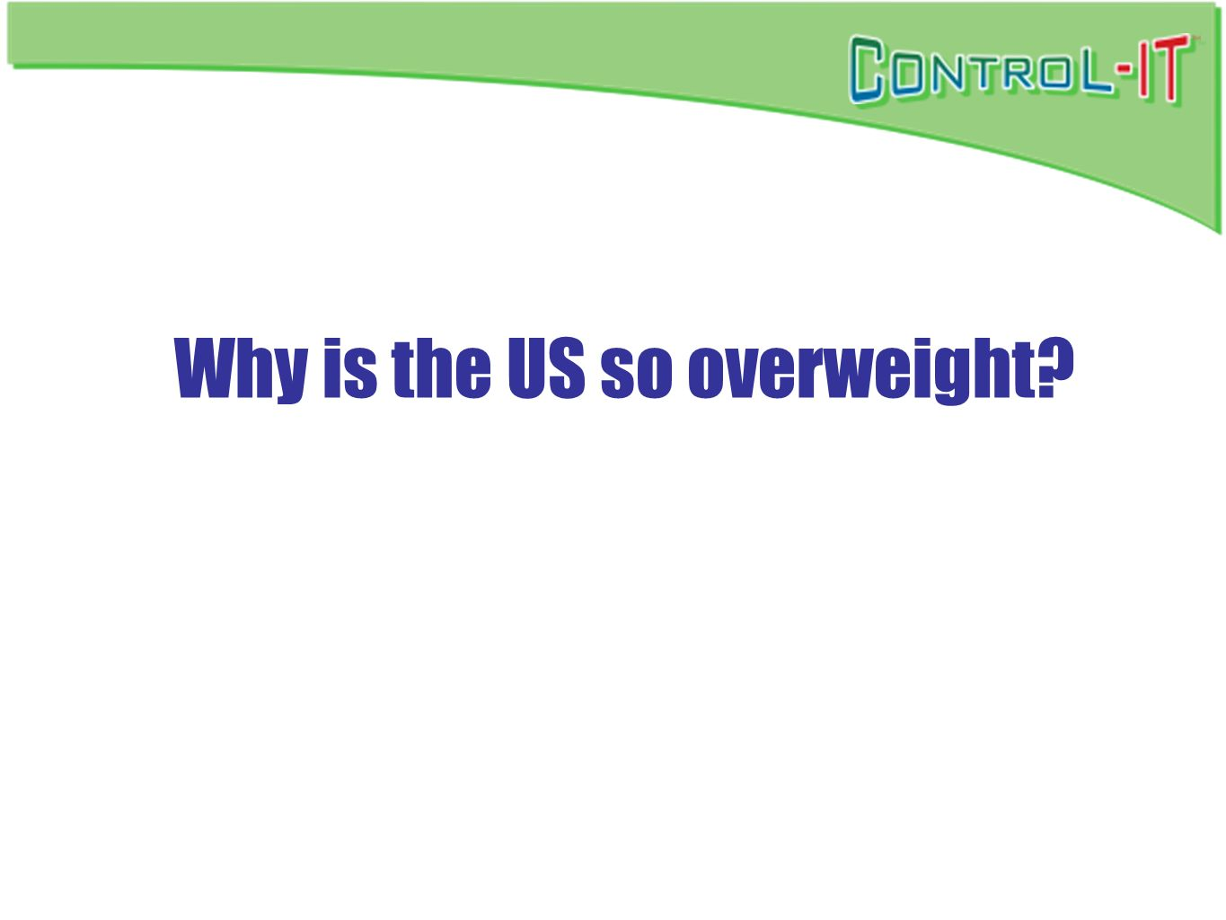 Why is the US so overweight