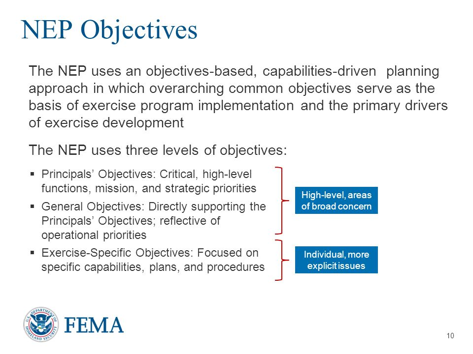 NEP Objectives