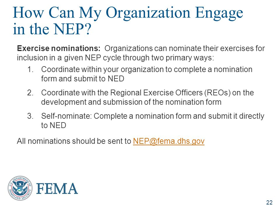 How Can My Organization Engage in the NEP