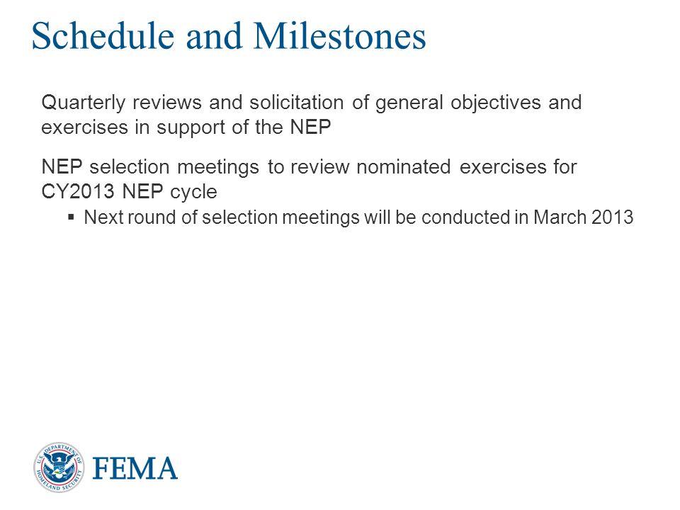 Schedule and Milestones