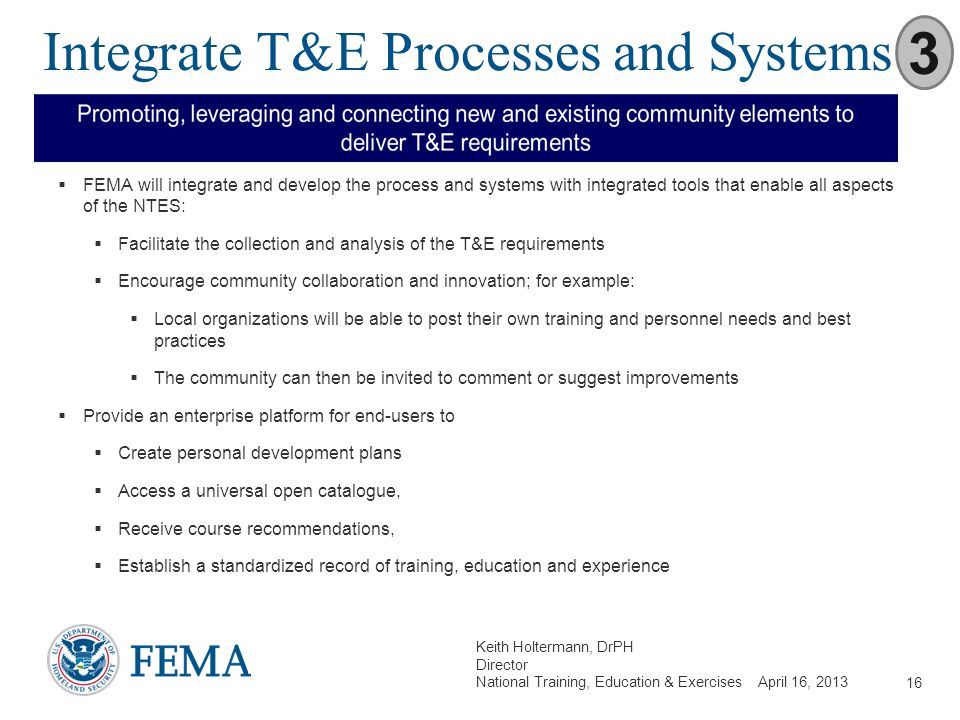 Integrate T&E Processes and Systems