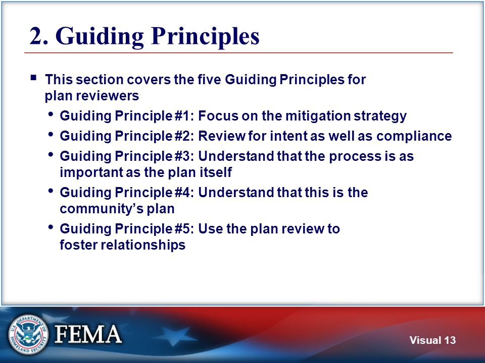 Guiding Principle #1 Focus on the mitigation strategy