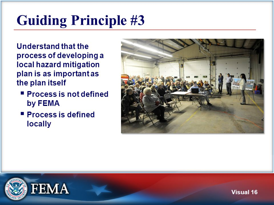 Guiding Principle #4 Understand that this is the community's plan