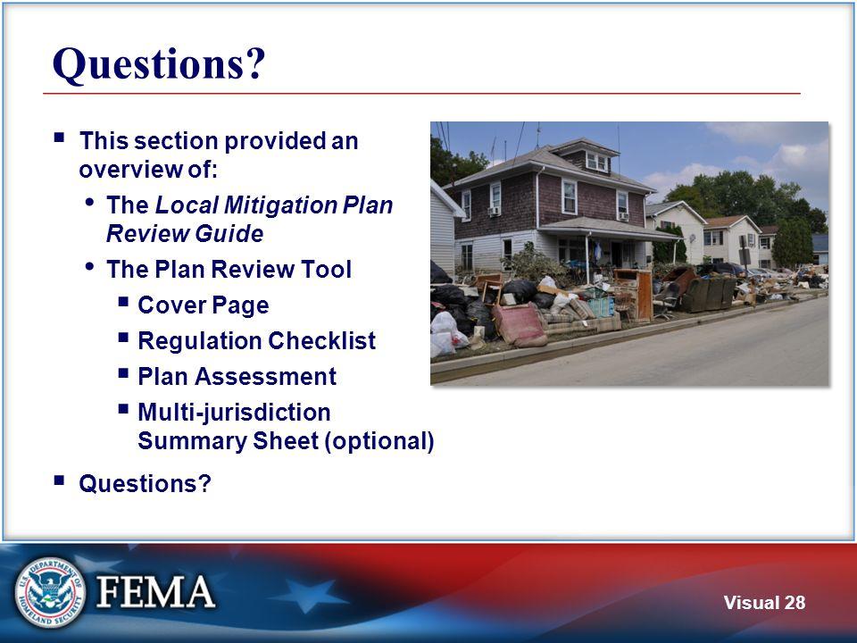 4. Regulation Checklist Regulation Checklist has 6 Elements