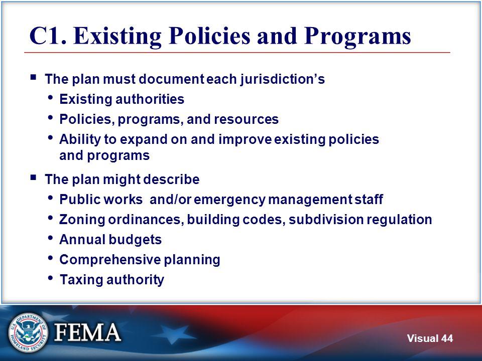 C2. NFIP Participation Does the plan address