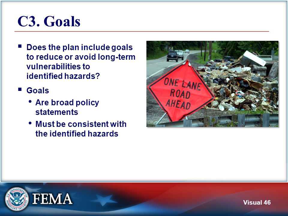 C4. Mitigation Actions The plan must identify and analyze a range of mitigation actions. Actions.