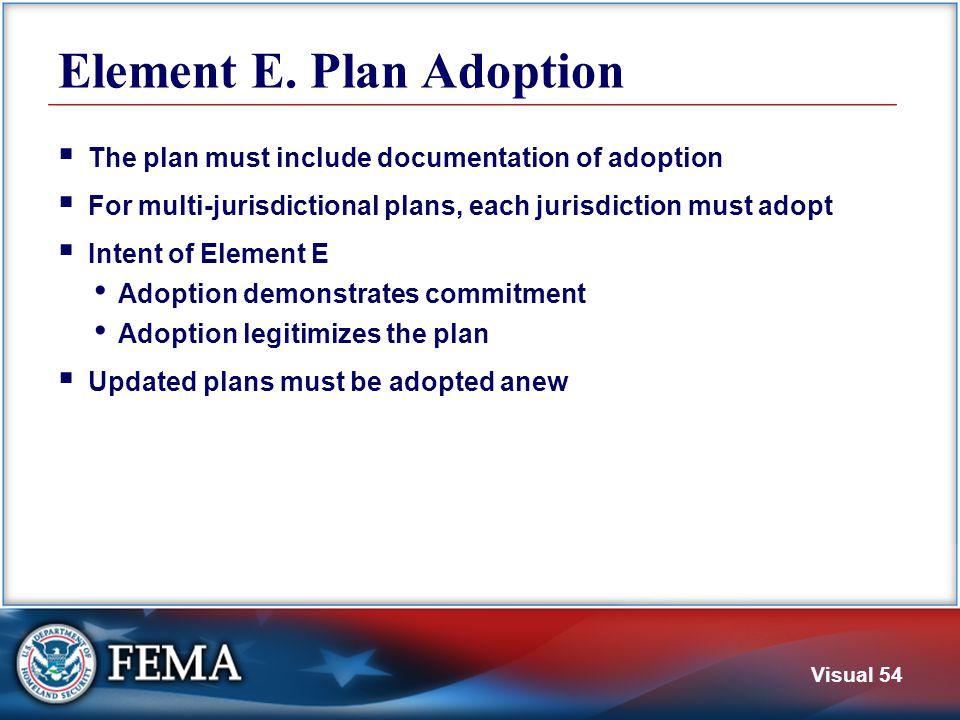 E1. Documentation of Adoption