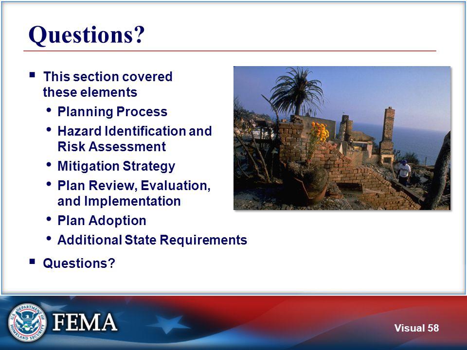 5. Plan Assessment Intent of Plan Assessment
