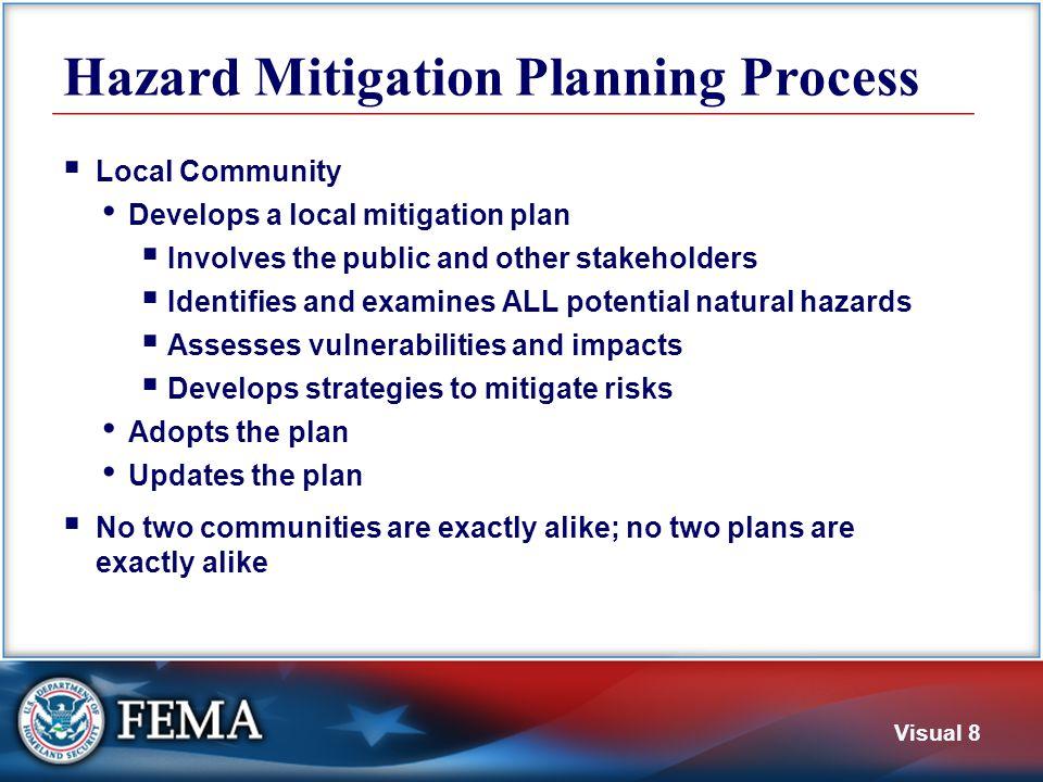Plan Review Procedure SHMO Local Community FEMA Prepares Plan