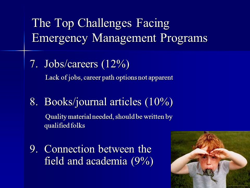 The Top Challenges Facing Emergency Management Programs