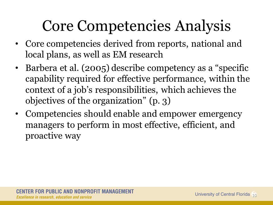 Core Competencies Analysis