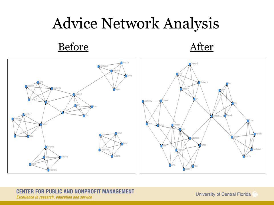 Advice Network Analysis