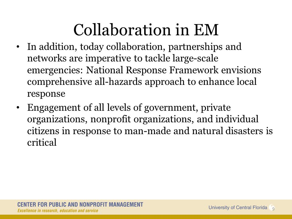 Collaboration in EM